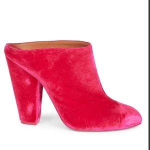 New Givenchy Velvet Fash Block Heel Mules